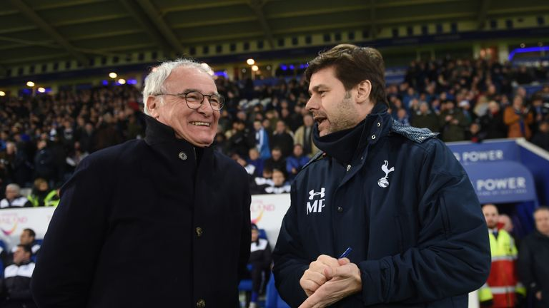 Claudio Ranieri thinks Mauricio Pochettino (right) is managing the title favourites