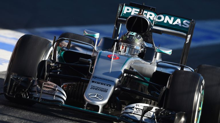f1 2016 testing mercedes hit the front on day one of. Black Bedroom Furniture Sets. Home Design Ideas