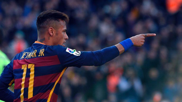 Neymar bagged a brace in Barca rout