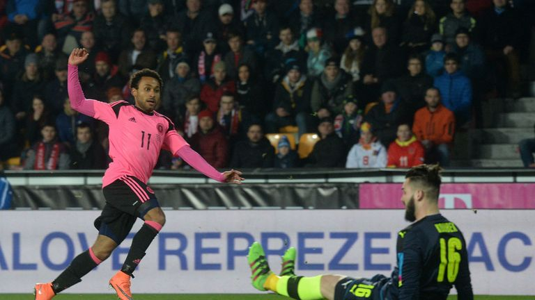Ikechi Anya scores Scotland's winner against Czech Republic
