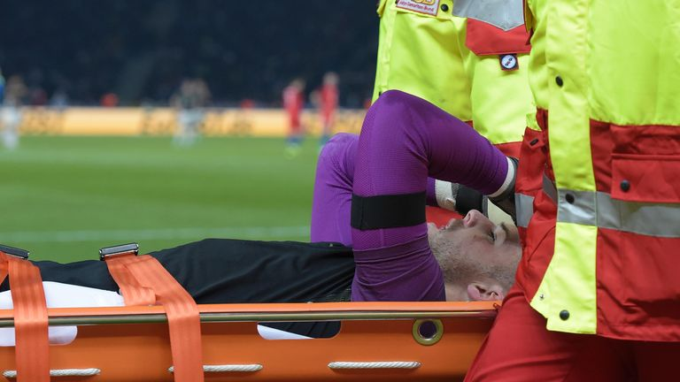 Butland suffered a fractured ankle in England's friendly win over Germany in March 2016