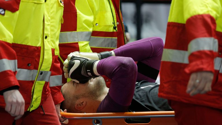 Jack Butland was take off injured