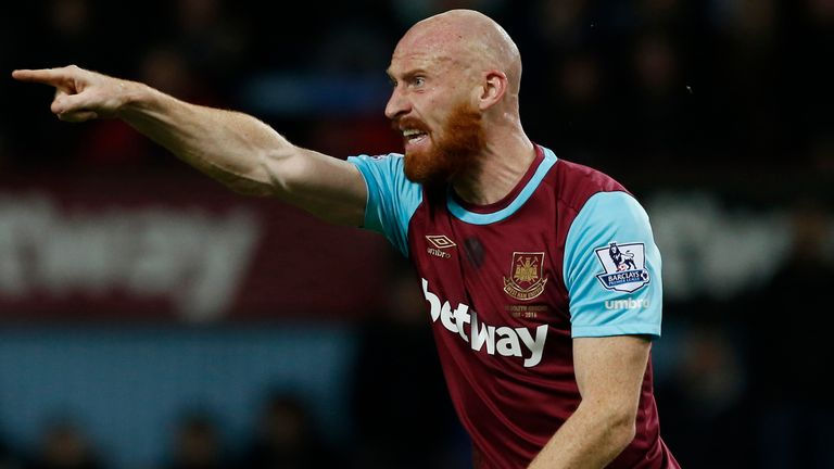 James Collins has been ruled out with injury