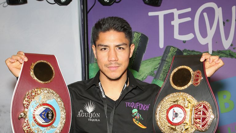 Vargas parades the WBO world title