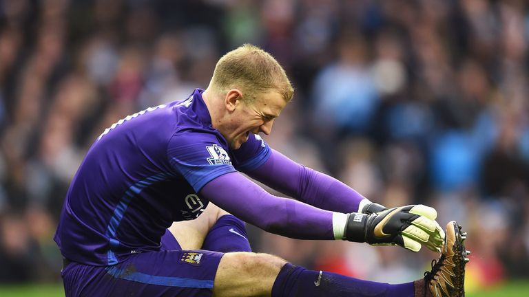 Joe Hart sustained a calf injury at the start of the first half