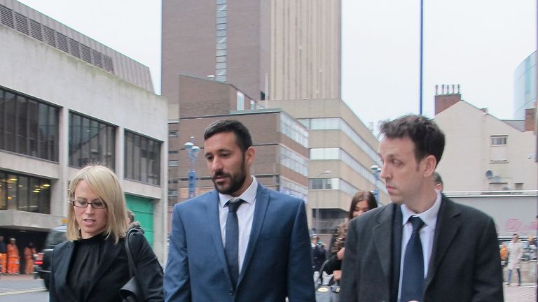 Gutierrez arrives at his employment tribunal in Birmingham