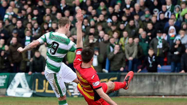 Griffiths scored on the stroke of half-time to give Celtic the lead