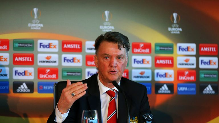Louis van Gaal faces the media ahead of Manchester United's game with Liverpool