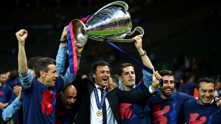 Luis Enrique has enjoyed a trophy-laden spell in charge of Barcelona