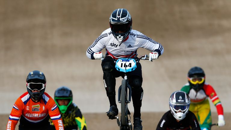 BMX racers can reach speeds of up to 40mph