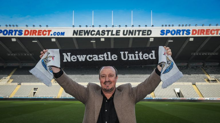 Rafa Benitez was appointed as Newcastle manager on Friday, replacing Steve McClaren