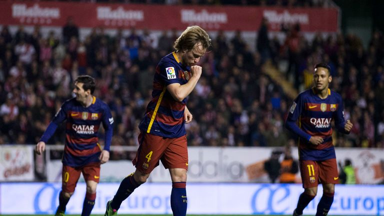 Ivan Rakitic opened the scoring for Barcelona