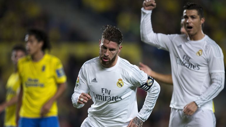 Sergio Ramos scored Real Madrid's opening goal but was later sent off