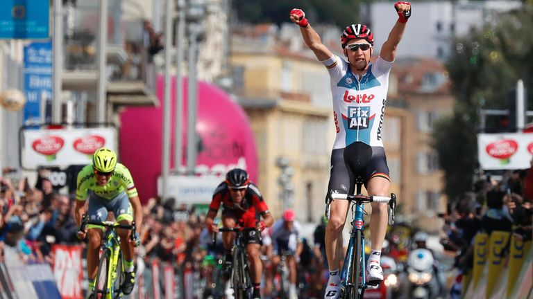 Tim Wellens took the stage win ahead of Contador in second and Porte in third