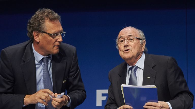 Valcke was once former president Sepp Blatter's right-hand man at FIFA