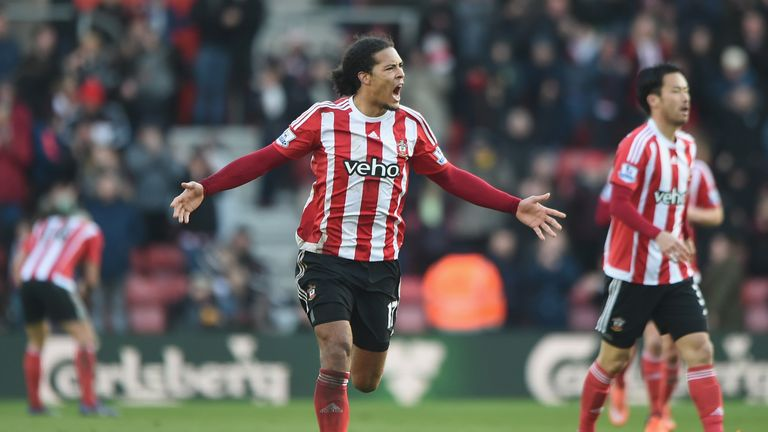 Virgil van Dijk scored three times in his debut Southampton season
