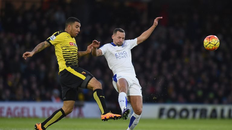 Troy Deeney and Danny Drinkwater tussle