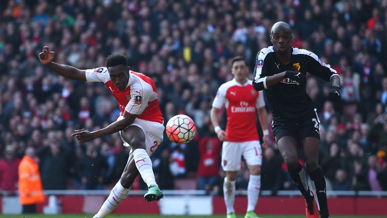 Danny Welbeck missed a superb chance to equalise after halving the deficit