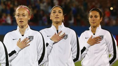Becky Sauerbrunn,  Hope Solo and Carli Lloyd are threatening strike action