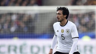 Mats Hummels was expected to start for Germany in France this summer