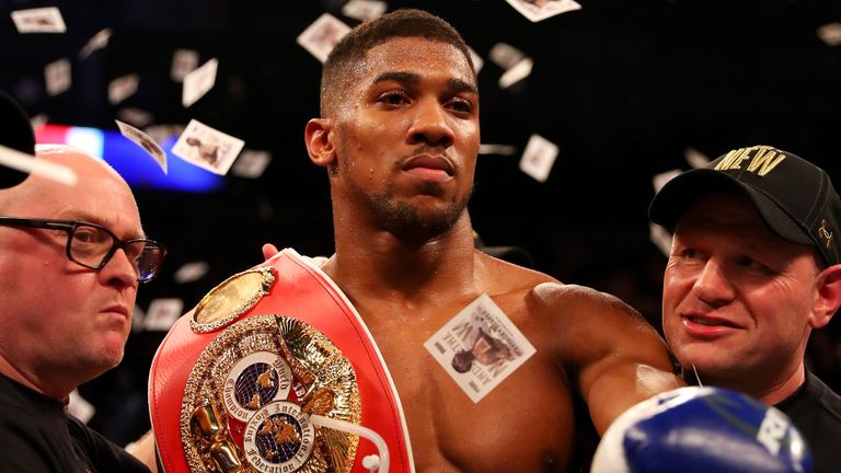Anthony Joshua took the IBF title from Charles Martin earlier this month