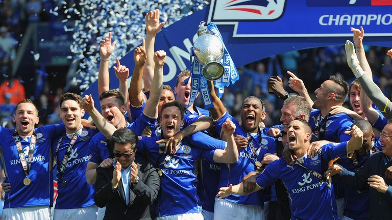 Leicester City were won of three teams in blue to have won the Premier League over the last four years