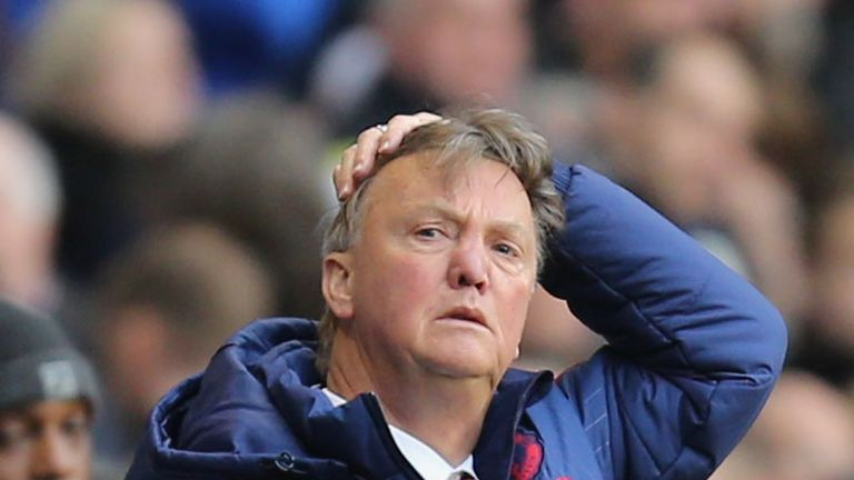 Louis Van Gaal's side were comprehensively beaten by Tottenham on Sunday