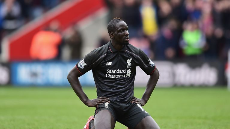 Mamadou Sakho struggled as Liverpool let a two-goal lead slip against Southampton