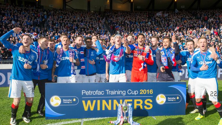Rangers won the Challenge Cup in 2016 but are now back in the Scottish Premiership