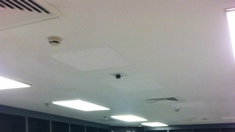 Froch was in the home dressing room... where the lights had to stay on