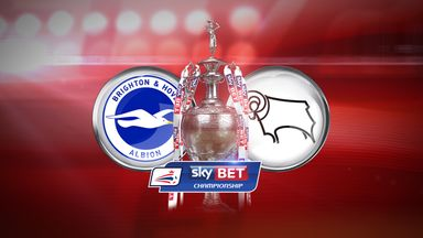 Brighton v Derby is live on Sky Sports 1 HD from 2.15pm on Monday