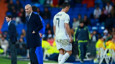 Cristiano Ronaldo limped off injured at the end of Real Madrid's midweek win over Villarreal
