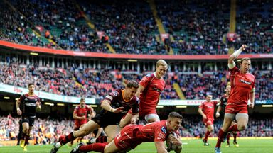 Scott Williams crossed for the Scarlets' first try