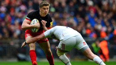 Owen Farrell guided Saracens to a home semi-final