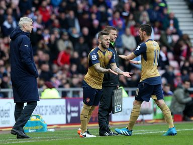 Jack Wilshere returned to Premier League action on Sunday