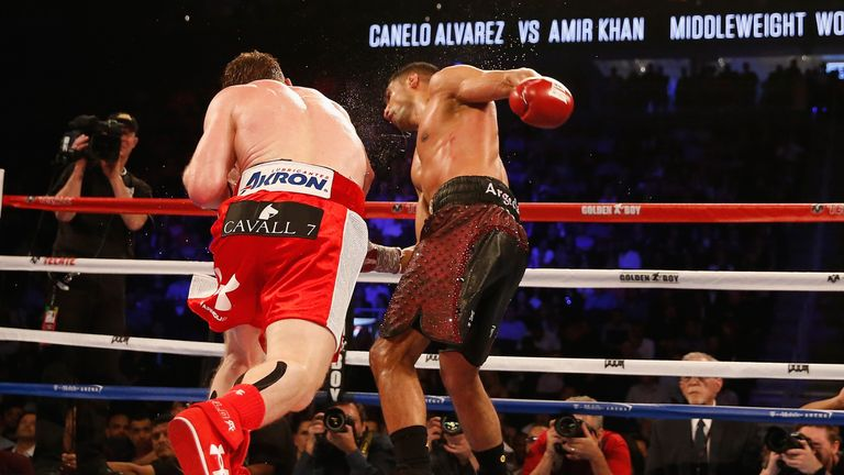 Amir Khan is back in the ring after his knockout defeat to 'Canelo'