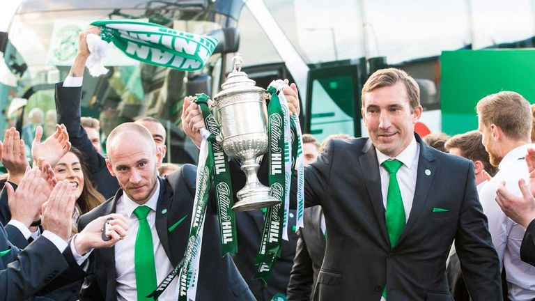 Alan Stubbs led Hibernian to their first Scottish Cup win since 1902 two years ago but then left for Rotherham United