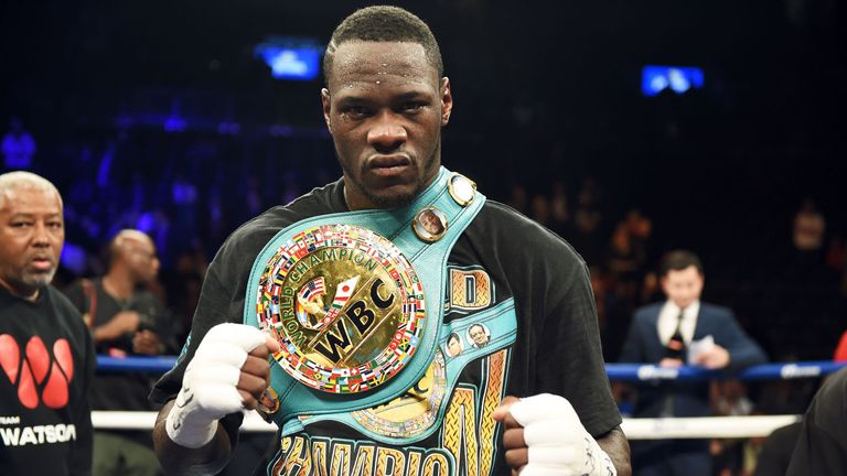 American Deontay Wilder holds the WBC heavyweight title