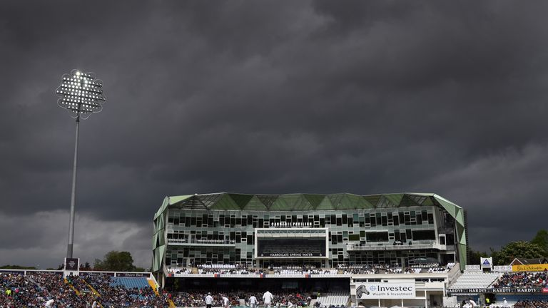 The main stand at Headingley during an England-Sri Lanka Test match