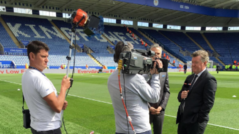 Sam has had a taste of football reporting with Geoff Shreeves