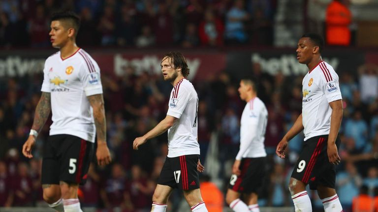 Manchester United lost to West Ham after leading 2-1