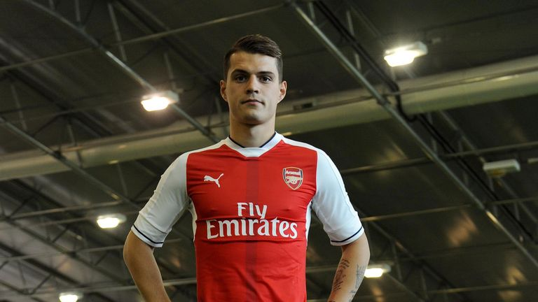 Arsenal midfielder Granit Xhaka says he was impressed with the facilities at Arsenal following his move from Germany
