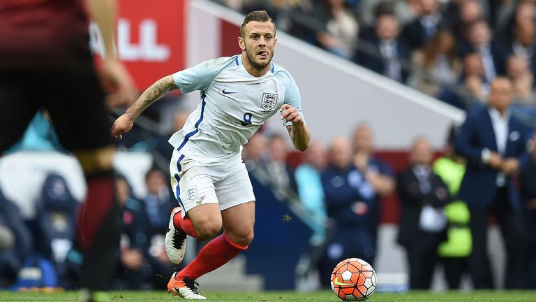 Jack Wilshere made his England return against Turkey