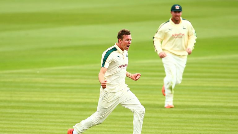 Jake Ball twice dismissed Joe Root during Nottinghamshire's Championship match against Yorkshire
