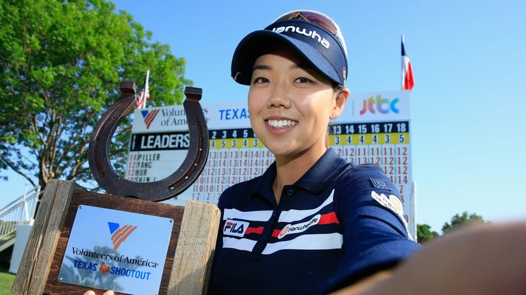Jenny Shin's happy selfie after her stunning victory