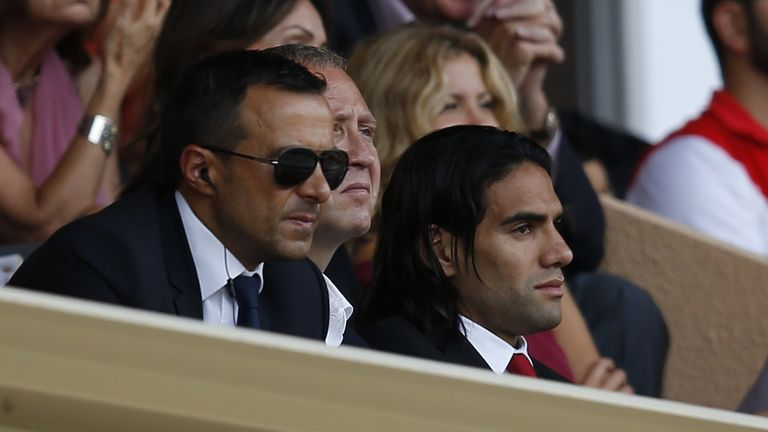 Mendes' clients include Radamel Falcao (pictured), Cristiano Ronaldo and Jose Mourinho