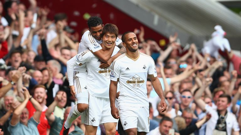 Swansea romped to victory over West Ham last weekend