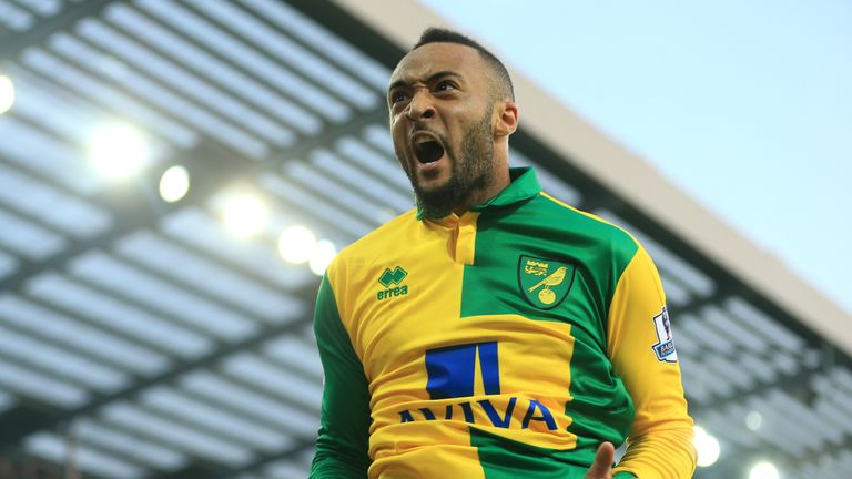 Nathan Redmond of Norwich City celebrates