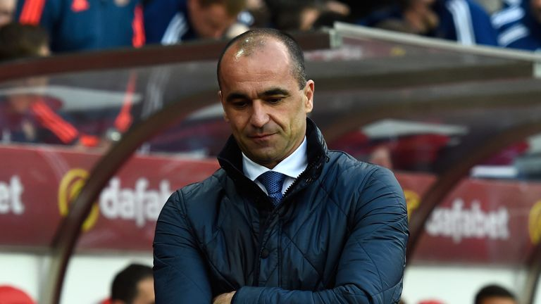 Roberto Martinez was sacked after defeat to Sunderland