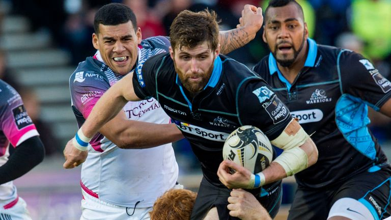 Glasgow Warriors centre Richie Vernon is one of the five players